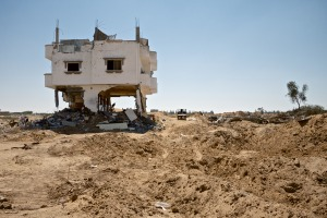A bombed out building near Rafah, Gaza, 2014